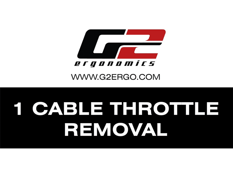 1 Cable Throttle Removal